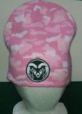 CSU Rams Pink Camo Ladies Beanie